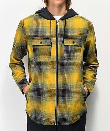 Empyre Chadder camisa de franela amarilla con capucha
