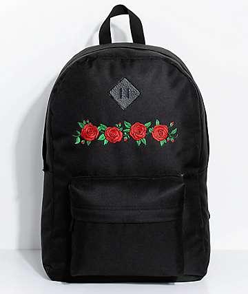 Empyre Chrissy Black Roses Backpack