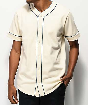 Empyre Chuck Off White & Blue Baseball Jersey