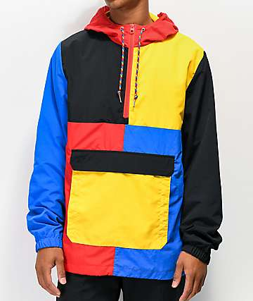 Empyre Crugo chaqueta anorak azul, roja y amarilla