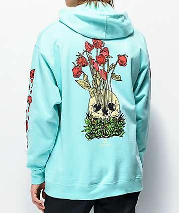Empyre Dead Garden sudadera con capucha azul menta