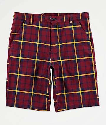 Empyre Derelict shorts de tartán roja
