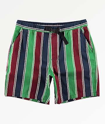 Empyre Dixon shorts de cintura elástica de rayas verticales
