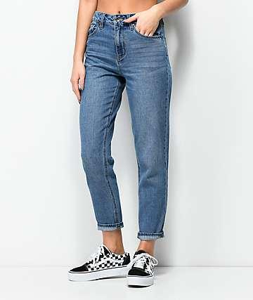 Empyre Eileen mom jeans con lavado medio