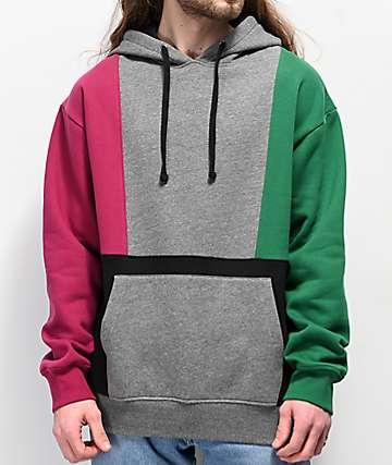 Empyre Fast Break sudadera con capucha morada, gris, verde, y negra