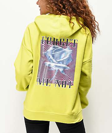 Empyre Fredia Forget Me Not Neon Yellow Hoodie