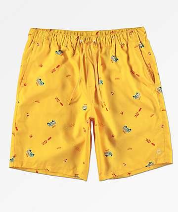 Empyre Grom Hotdog shorts de baño dorados