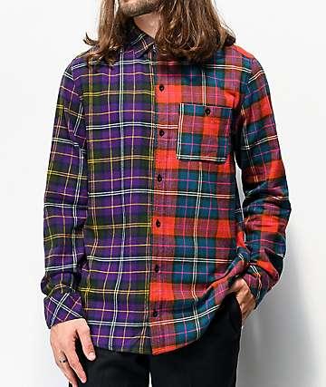 Empyre Halves camisa da franela multicolor