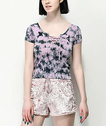 Empyre Hawn camiseta tie dye morada