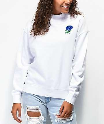 Empyre Holmes Blue & White Crew Neck Sweatshirt