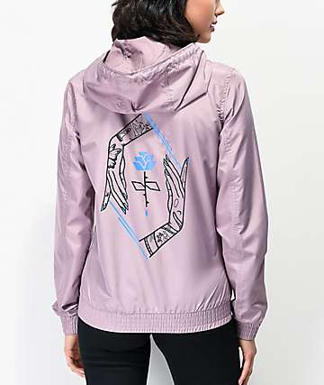 Empyre Keana Rose Hand Purple Windbreaker Jacket