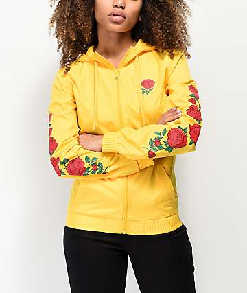Empyre Keana Rose Yellow Windbreaker Jacket