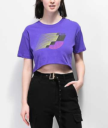 Empyre Kipsy Ultra Violet Crop T-Shirt