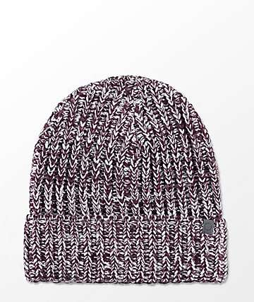 Empyre Lark Blackberry Vanilla Fold Over Beanie