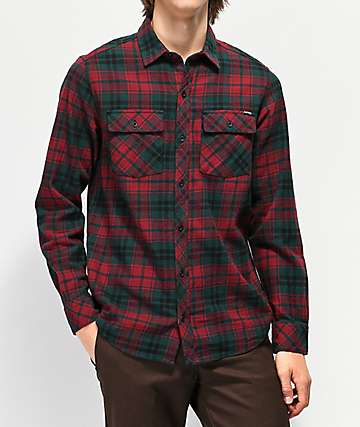 Empyre Marky Red & Black Flannel Shirt