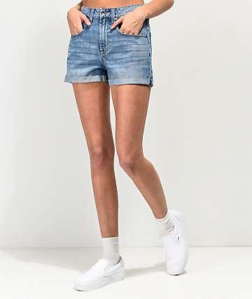 Empyre Melanie shorts de mezclilla con bajos con vuelta