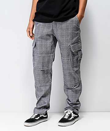 Empyre Orders Black Plaid Cargo Pants