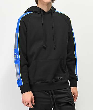 Empyre Pacer Black, Blue & Green Hoodie