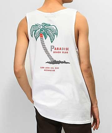 Empyre Paradise Club camiseta blanca sin mangas