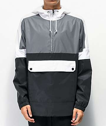 Empyre Pauly chaqueta anorak reflectante negra y gris