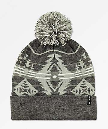 Empyre Pieces Grey Pom Beanie
