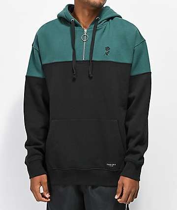 Empyre Pusher Green and Black Hoodie