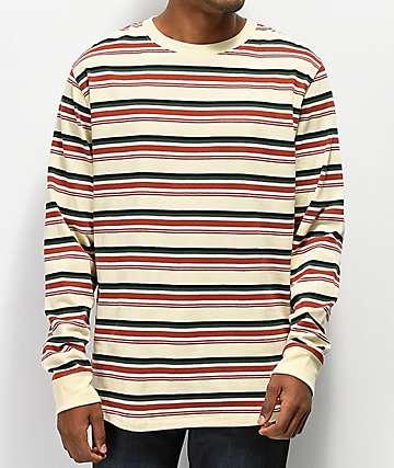 Empyre Recon Striped Tan Long Sleeve T-Shirt