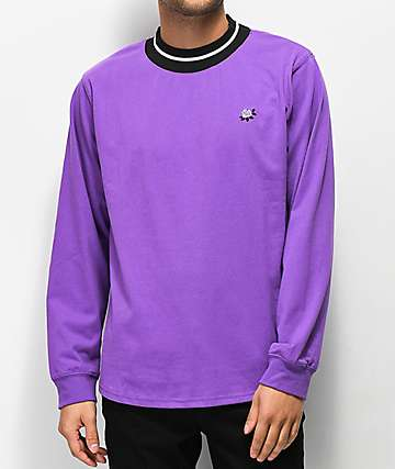 Empyre Ringer Purple Long Sleeve T-Shirt