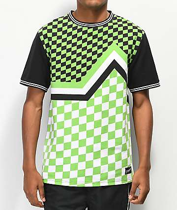 Empyre Ringo Green Check Pique Knit T-Shirt