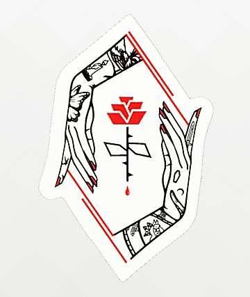 Empyre Rose Hands Sticker