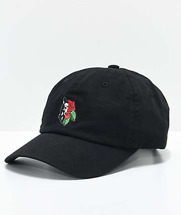Empyre Rose Wolf Black Dad Hat