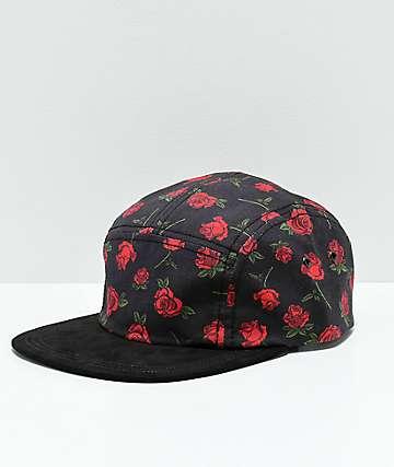 Empyre Rosebud Black 5 Panel Hat