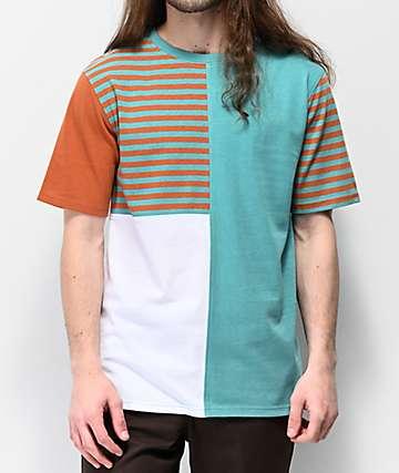 Empyre Skeeter Blocked & Striped Knit T-Shirt