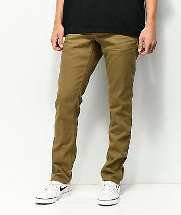Empyre Skeletor Driftwood Khaki Skinny Jeans