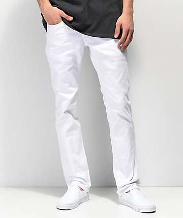 Empyre Skeletor jeans ajustados de mezclilla blanca