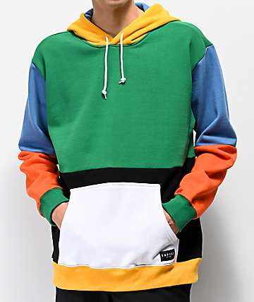Empyre Spectrum Colorblock Green Hoodie
