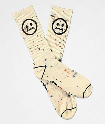 Empyre Splat White Crew Socks
