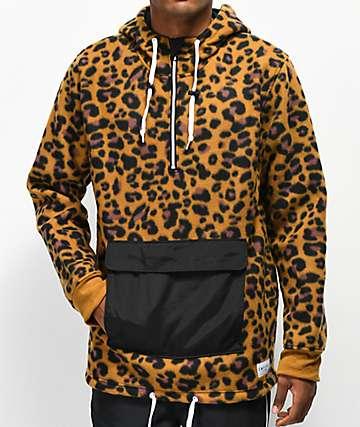 Empyre Sport Leopard Anorak Fleece Jacket
