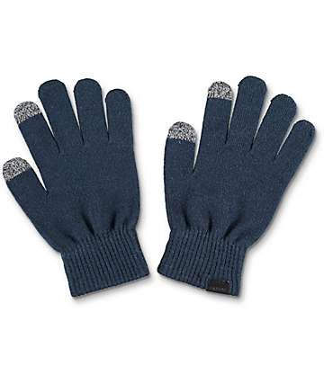 Empyre Techy Navy Knit Gloves