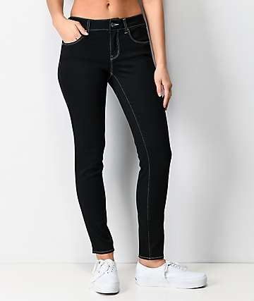 Empyre Tessa Black Pop Stitch Skinny Jeans