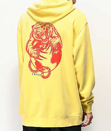 Empyre Tiger's World sudadera con capucha amarilla