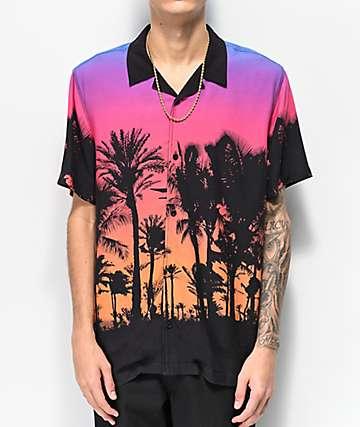 Empyre Vacation camisa tejida negra de manga corta