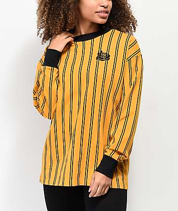 Empyre Velma Yellow & Black Stripe Long Sleeve T-Shirt