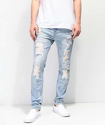 Empyre Verge Sprint jeans ajustados y desgastados en azul