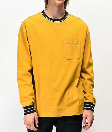Empyre Vision Gold Long Sleeve Knit Pocket T-Shirt