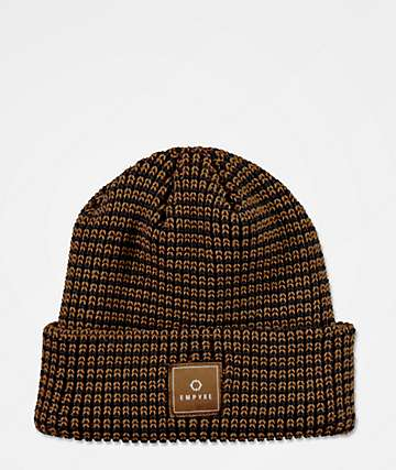 Empyre Wallop Black & Brown Beanie