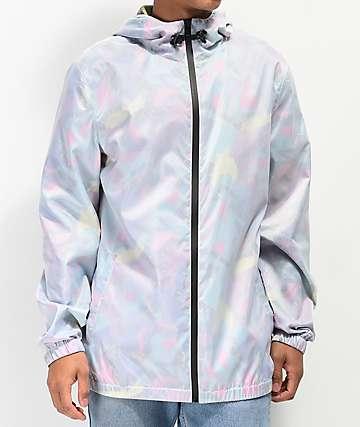 Empyre Wilbert Geo Print Windbreaker Jacket