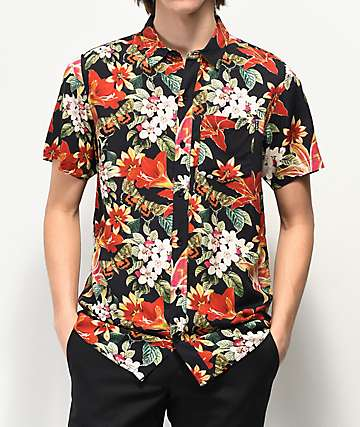 Empyre Willy Black Short Sleeve Button Up Shirt