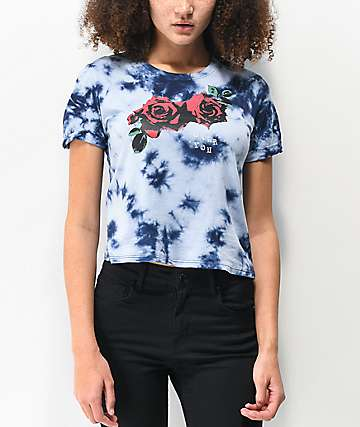 Empyre Yohanna Over You Rose Blue Tie Dye T-Shirt