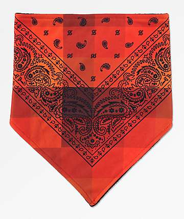Empyre bandana de cachemir rojo